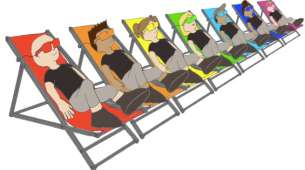 "Concept ""Coloured Sunbath"" by Anne Bureau (France)"